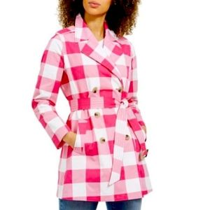 Charter Club Checkered Trench Coat